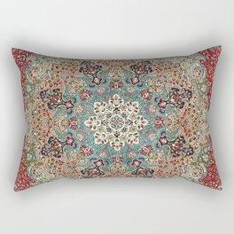 Antique Red Blue Black Persian Carpet Rectangular Pillow