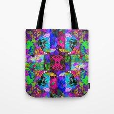 Floral Splatter Tote Bag