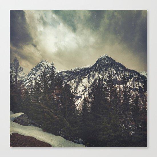 Alpine Twin Peaks Canvas Print