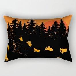 Bigfoot Tracks At Sunset Rectangular Pillow