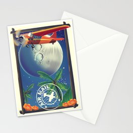Vintage Air Mail poster Stationery Cards