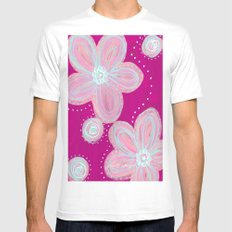 Pinked MEDIUM Mens Fitted Tee White