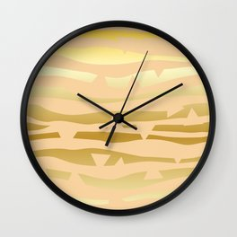 Golden Waves #Society6 #decor #buyart Wall Clock