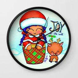 Christmas Kokeshi Wall Clock