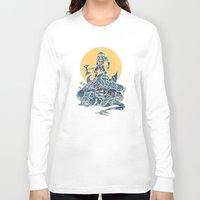 skyrim Long Sleeve T-shirts featuring The Dragon Slayer by Fanboy30