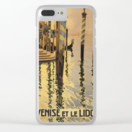 Vintage poster - Venice, Italy Clear iPhone Case