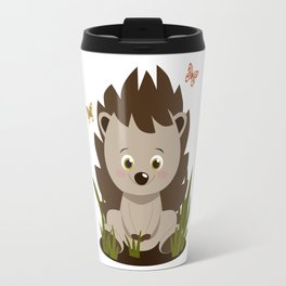 Hedgehog nursery baby art Travel Mug
