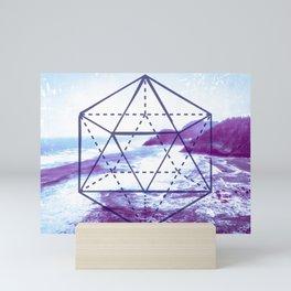 The Elements Geometric Nature Element of Water Mini Art Print