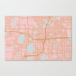 Orlando map, Florida Canvas Print