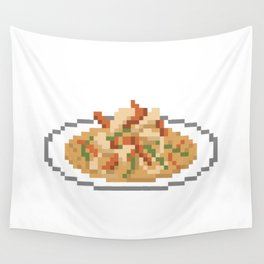 Evil Curry Pixel Wall Tapestry