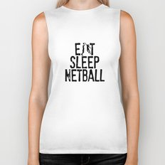Eat Sleep Netball Biker Tank