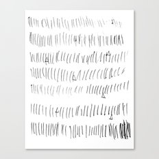 Cussed in Lines Canvas Print