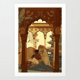 Angels in Oasis Art Print