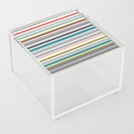 grey and colored stripes Acrylic Box