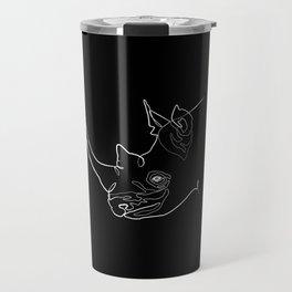 Rhino (black) Travel Mug