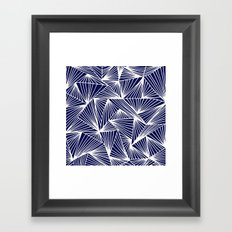 TriangleAngle (Navy) Framed Art Print