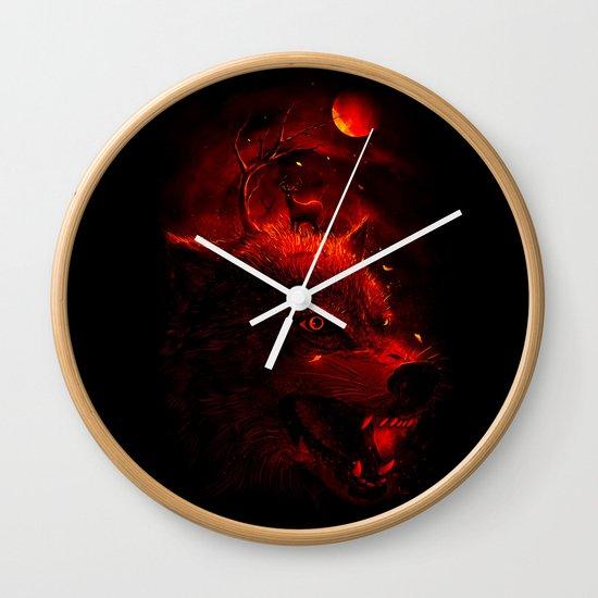 Red Dream Wall Clock