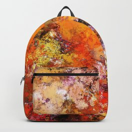 A jumping orange horse Backpack