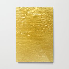 Solid Gold Paint Texture Metal Print