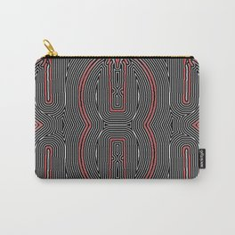 Maze Texture Red Black and White Design Carry-All Pouch