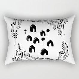 Line Vine Border Community Illustration Rectangular Pillow