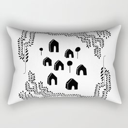 Line Vine Border Community Illustration Rectangular Pillow
