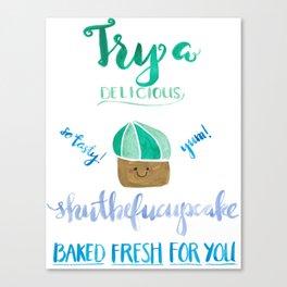 Shutthefucupcake Canvas Print