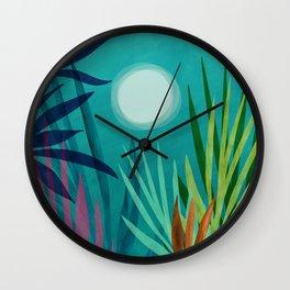 Night Hiking in the Tropics / Night Scene Series Wall Clock