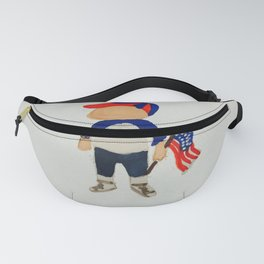 Toddlers Fourth of July Parade Watercolor Painting Fanny Pack