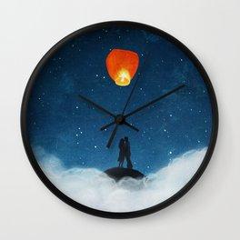 Love Wish Upon A Lantern Wall Clock
