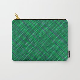 Wicker ornament of their blue threads and green intersecting fibers. Carry-All Pouch