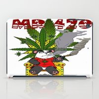 cannabis iPad Cases featuring TIMMY THE CANNABIS BEAR  by Timmy Ghee CBP/BMC Images  copy written