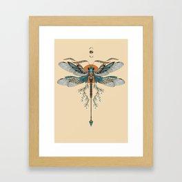 Dragonfly Tattoo Framed Art Print