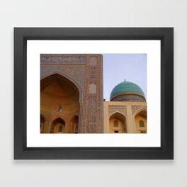 Mir-i-Arab Madrasah in Bukhara Framed Art Print