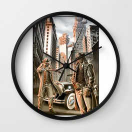 Detectives from other worlds Wall Clock