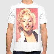 Marilyn Monroe 3 Mens Fitted Tee MEDIUM White