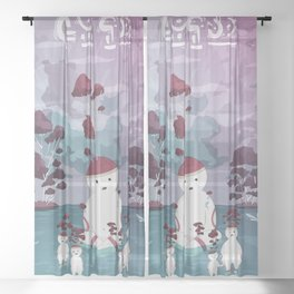 Mellow Trees Sheer Curtain