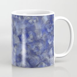Slate Blue and Steel Silver Gray Unique Bubble Texture Coffee Mug