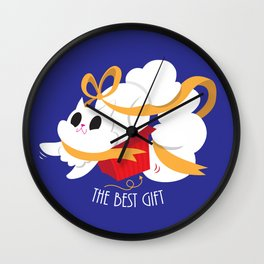 Best gift for a cat - a box! Wall Clock