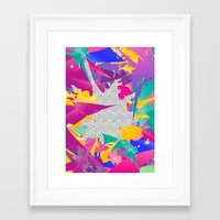 80s Framed Art Prints featuring 80s Abstract by Danny Ivan