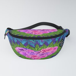 Floral Heart with Cannabis Leaves Fanny Pack