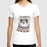 ferret T-shirts featuring Hipster Ferret by Indi Maverick