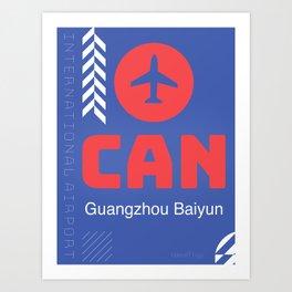 CAN Guangzhou Baiyun International Airport Art Print