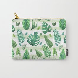 Tropical Palm Tree Leaves Carry-All Pouch
