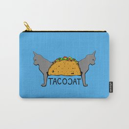 Tacocat Two-Headed Cat Taco with Lettering Carry-All Pouch