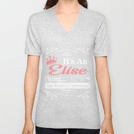 First Name T-Shirt Elise Personalized Birthday Gift Unisex V-Neck
