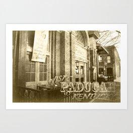 Market House Theater Postcard - Visit Paducah! Art Print