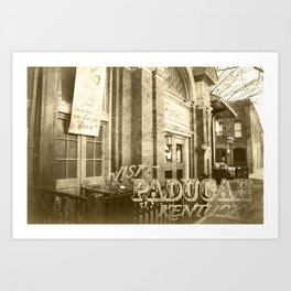 Market House Theater Postcard - Visit Paducah! Art Print