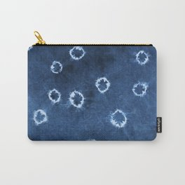 Indigo Shibori - Boho Circle Tie-Dye Carry-All Pouch