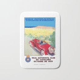 1929 SPAIN International Rally Exposition Of Barcelona Poster Bath Mat